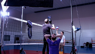 Shooting a TV spot